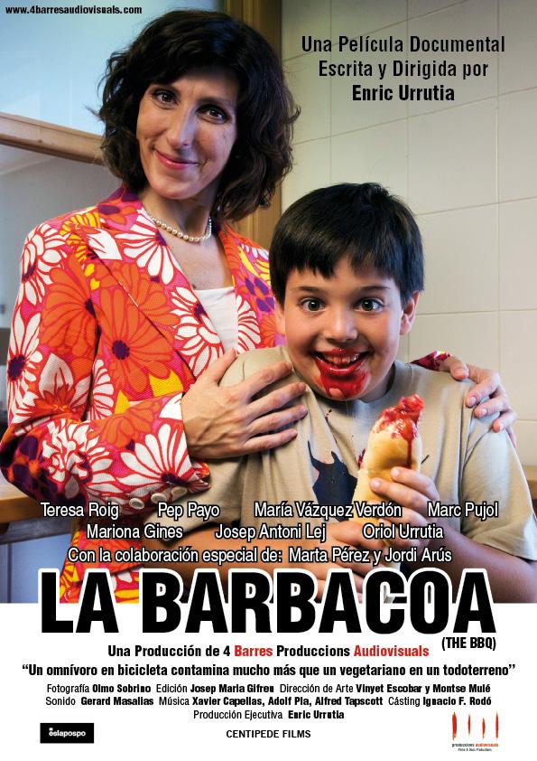 Cartel del documental vegano La Barbacoa