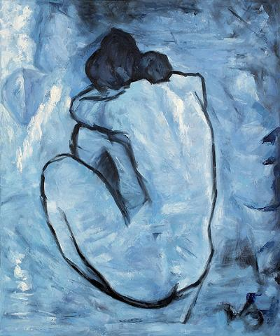 Picasso: blue nude